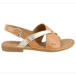 B.O.C  Leather Tan Gold Lowery Sandal